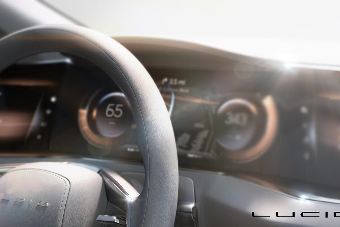 Lucid Motors' upcoming luxury EV: AMOLED screens make up the dash