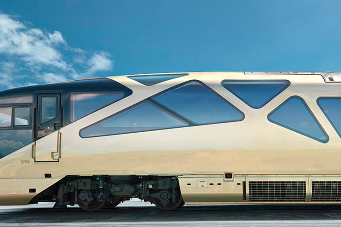 Japan's luxury Shiki-shima cruise train designed by famed automotive designer Ken Okuyama