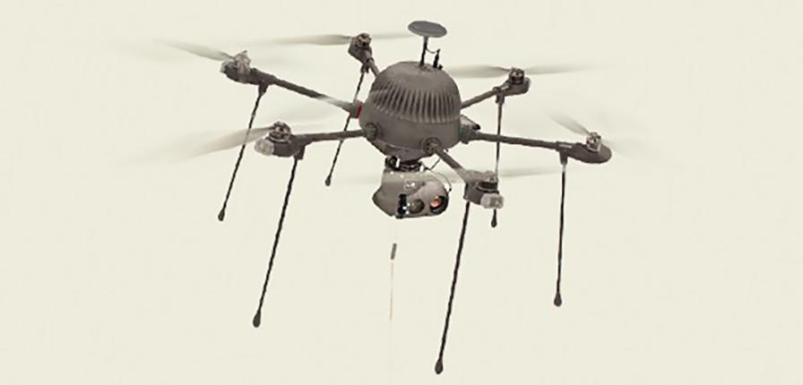 A tether provides the drone with the power needed for long endurance flights