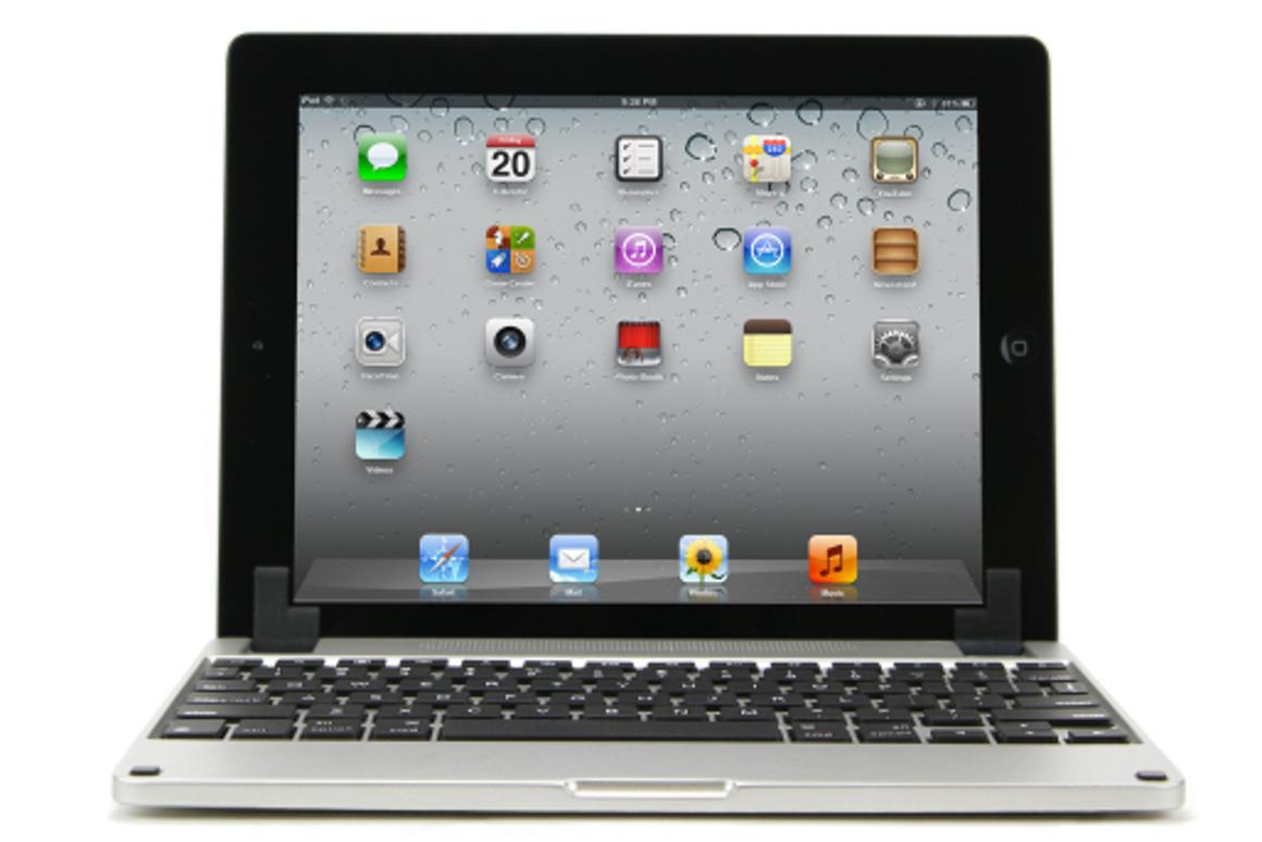Brydge keyboard case with iPad operational