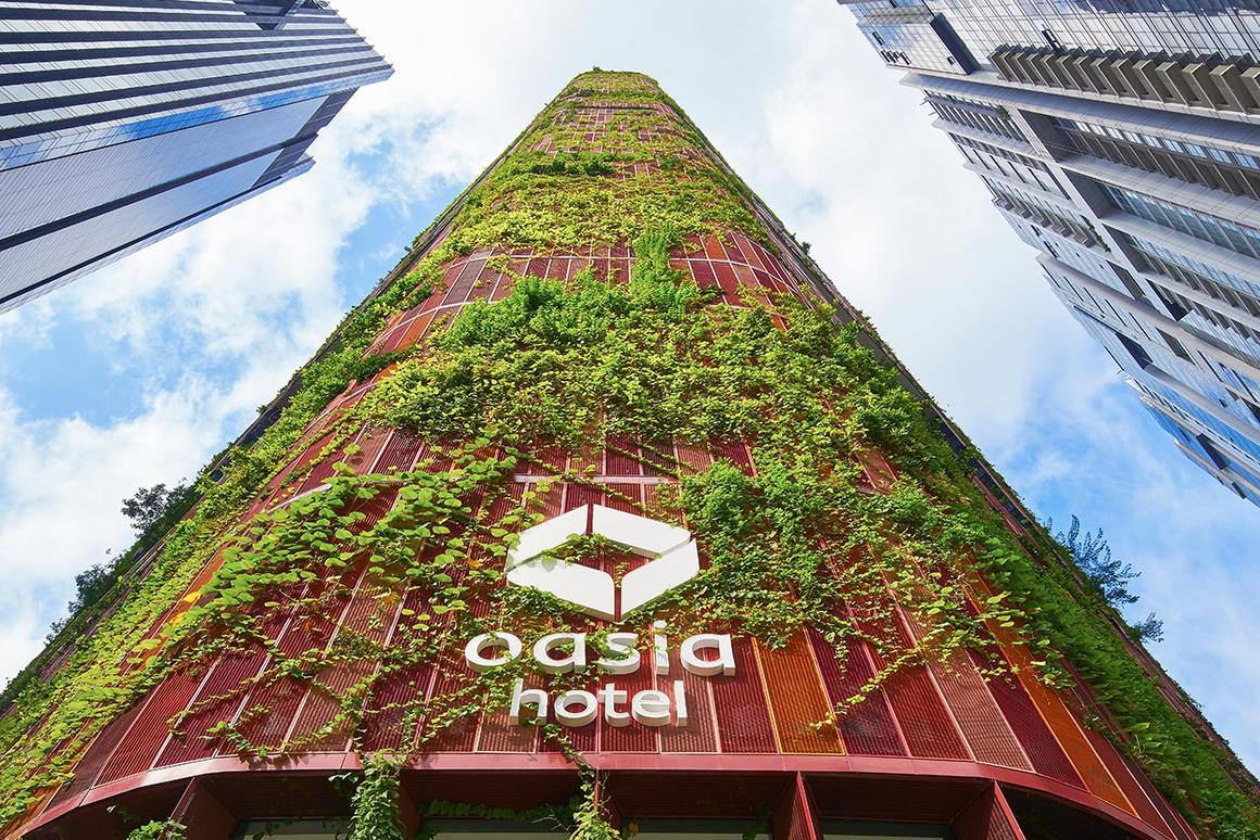 "The Oasia Hotel Downtown in Singapore has been named 2018's ""Best Tall Building Worldwide"" by the Council on Tall Buildings and Urban Habitat"