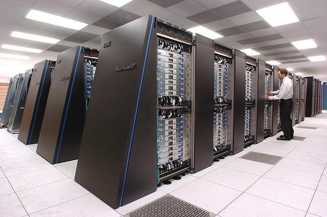 "The IBM Blue Gene/P (""Intrepid"") supercomputer (Photo: Argonne National Laboratory)"
