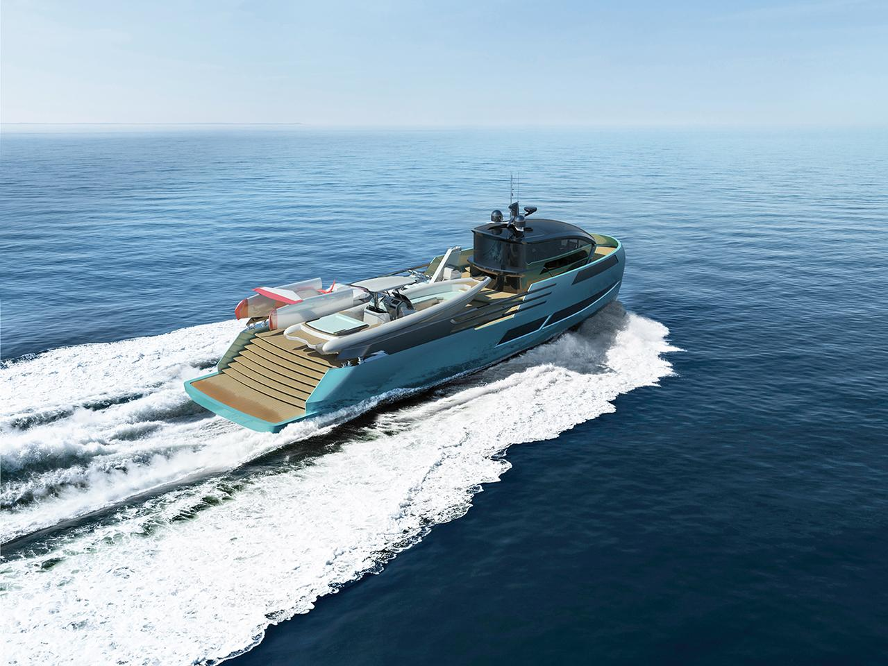 Many a superyacht has space for toys, but the Ice Kite has its own Ice Ghost toy support yacht