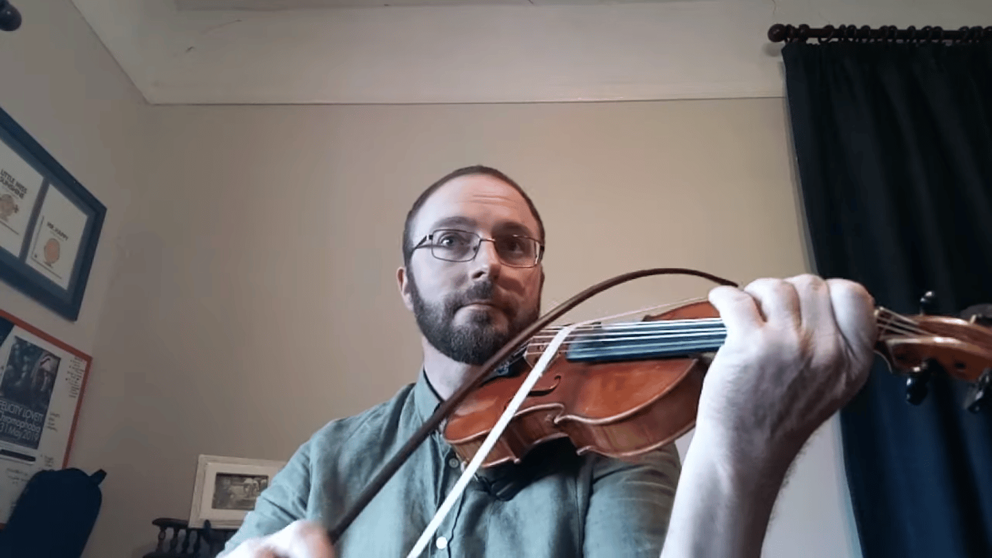 Slacken off the bow, and you can play all your strings at once