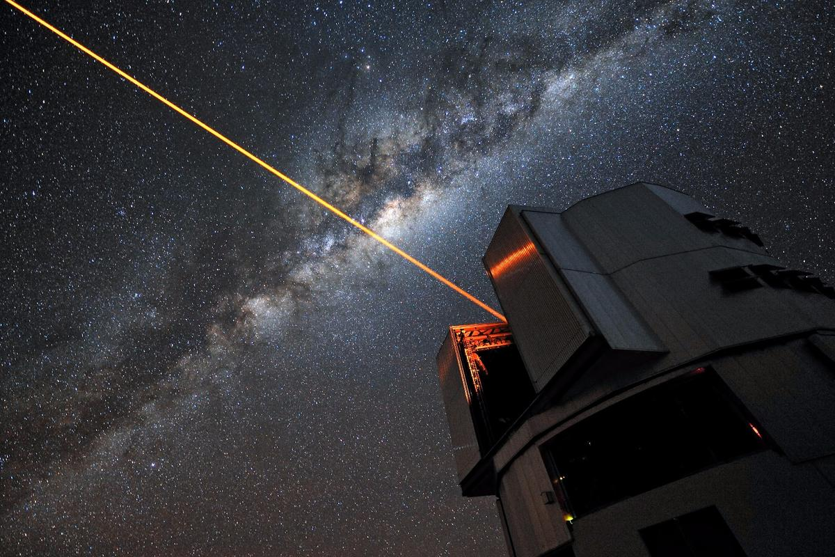 A 22 W laser used for adaptive optics on the Very Large Telescope in Chile