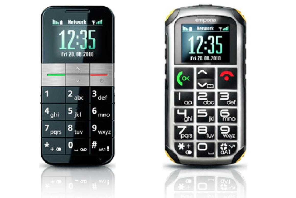 The Emporia Elegance (left) and Solid handsets have been designed for seniors and mobility impaired users who have their own special set of requirements