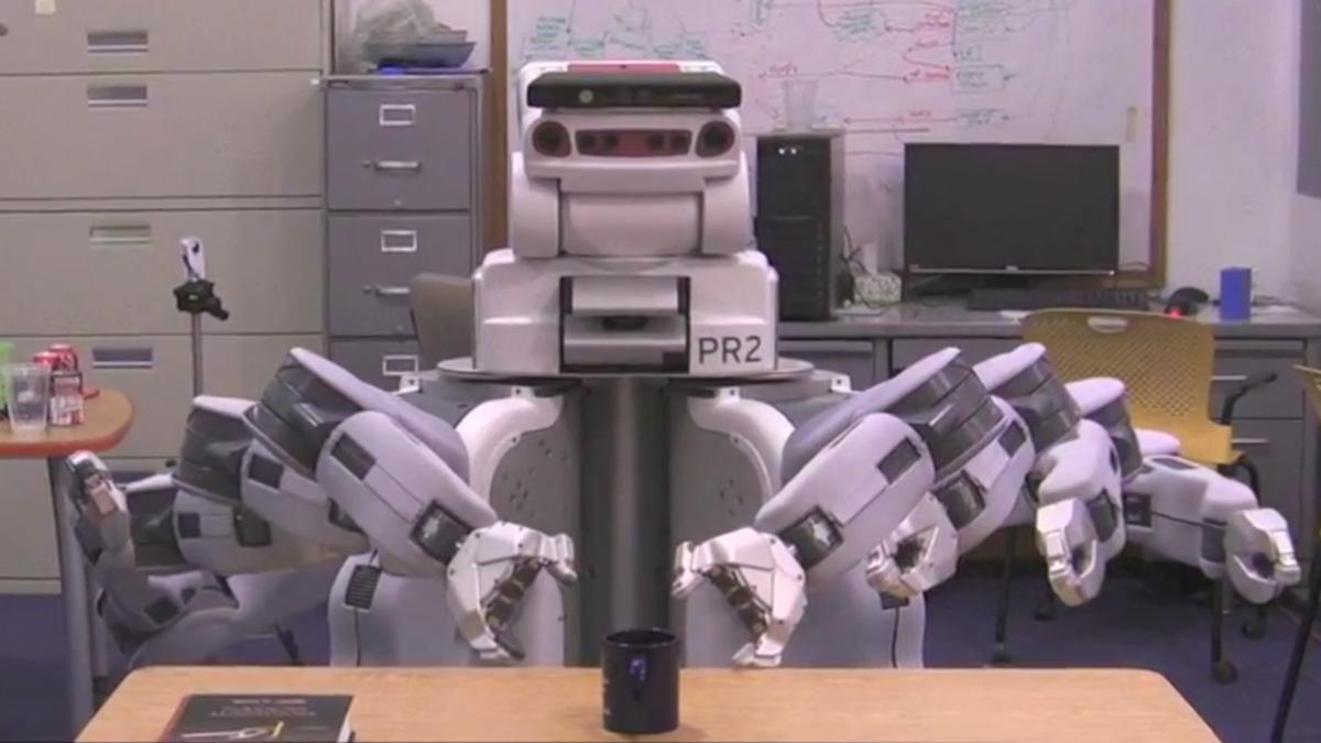 Time lapse image of the robot using the new MIT algorithm that results in more efficient and predictable movement