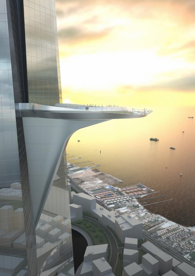 The Kingdom Tower - at 1,007 metres high, this will be the world's tallest building in 2020.