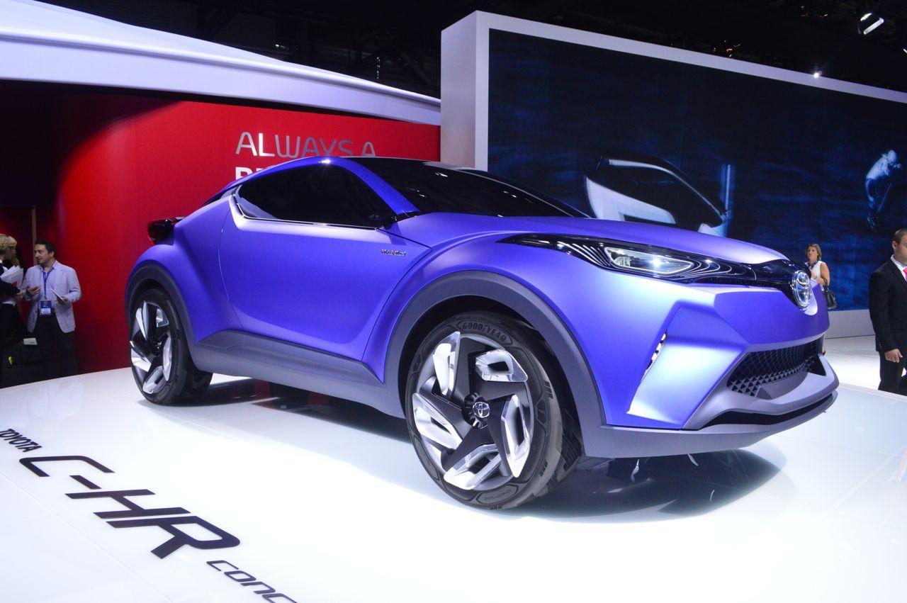 Toyota's C-HR on display in Paris (Photo: C.C. Weiss/Gizmag)