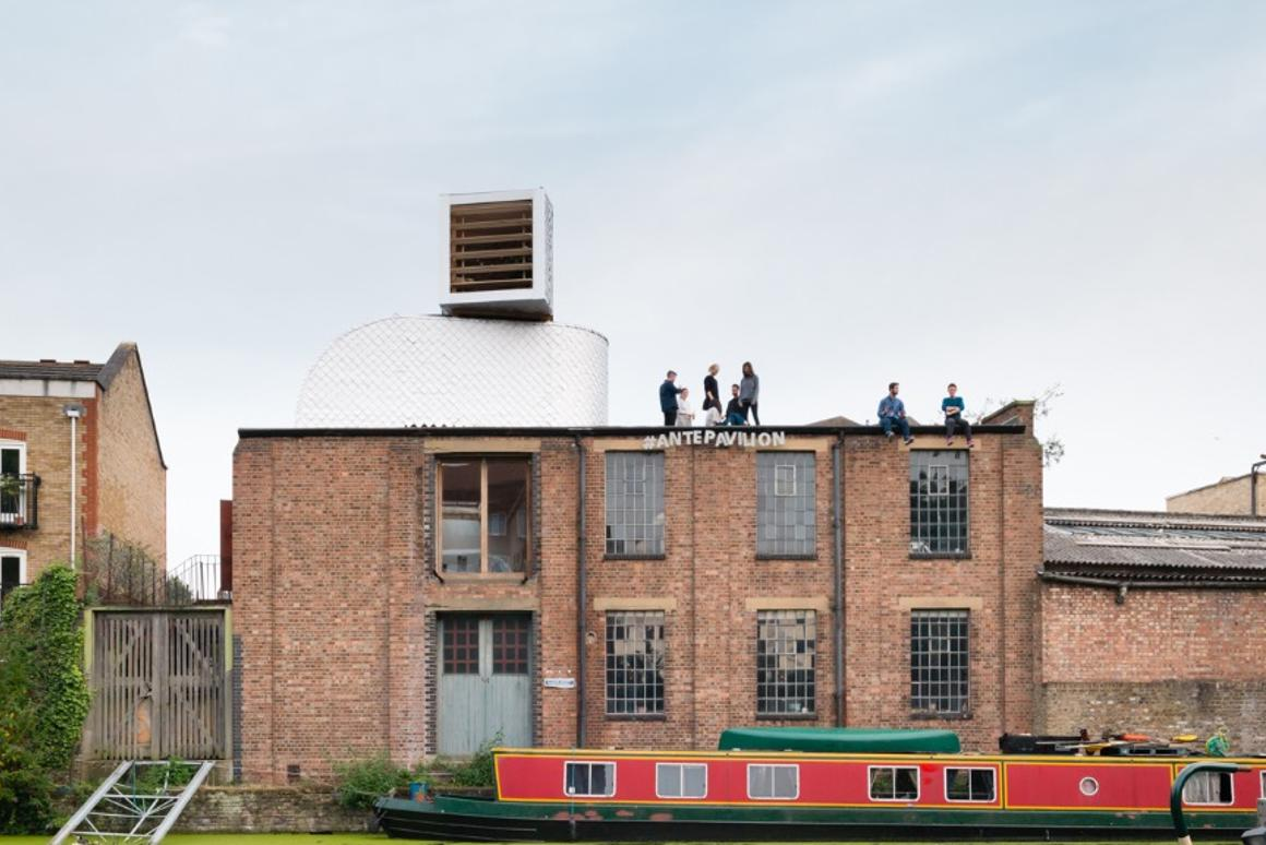 H-VAC is based atop an existing building in London'sHoxton Docks