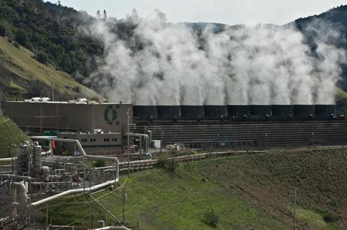 Geothermal plant at The Geysers, CA (Image: Calpine Corp.)