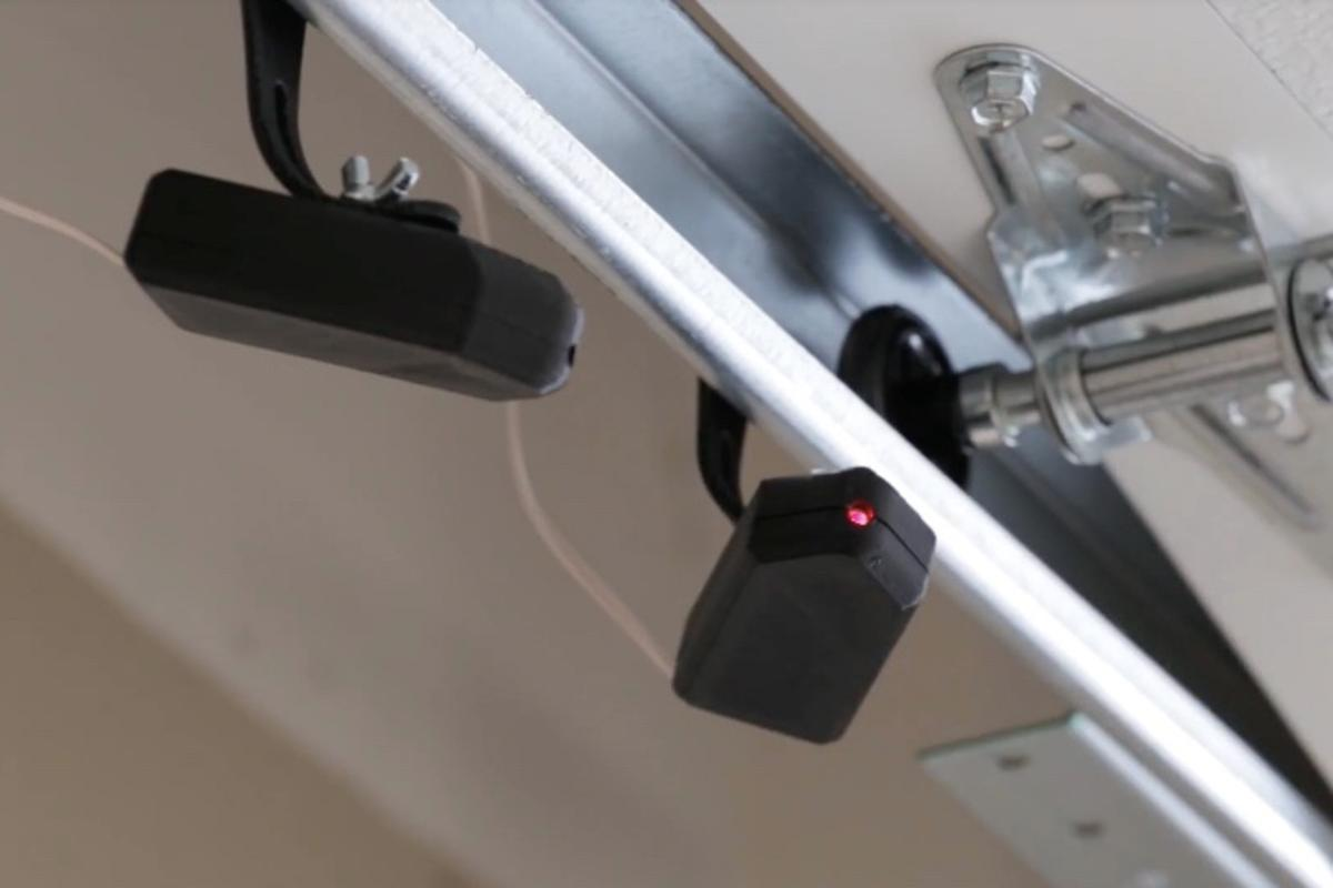 Park-a-Dot works with existing garage door safety systems