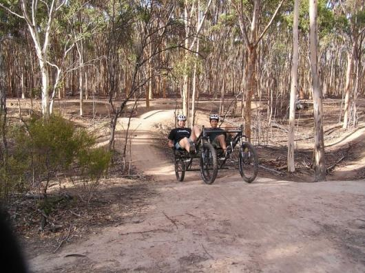 Pedal power: the four-wheeled transport Australians Roger Chao and Megan Kerr plan to ride more than 7,450 miles across Russia and Asia.
