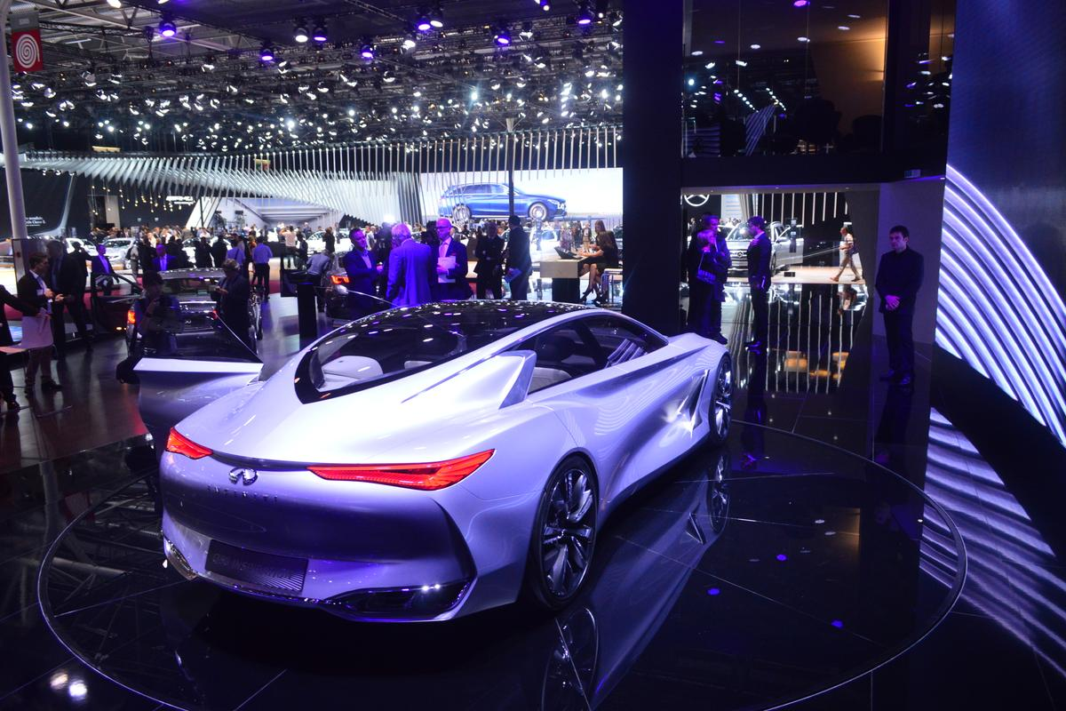 The Q80 showcases new design language destined for future production vehicles (Photo: C.C. Weiss/Gizmag)