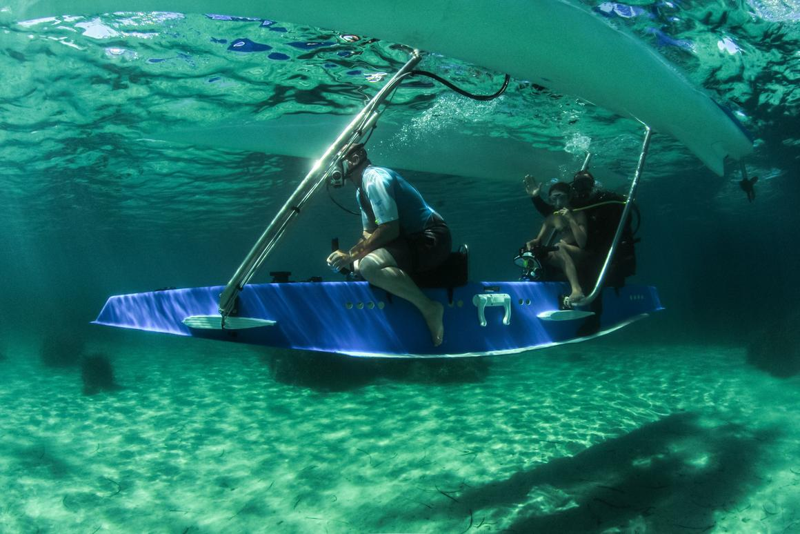 The Platypus prototype takes passengers beneath the waves