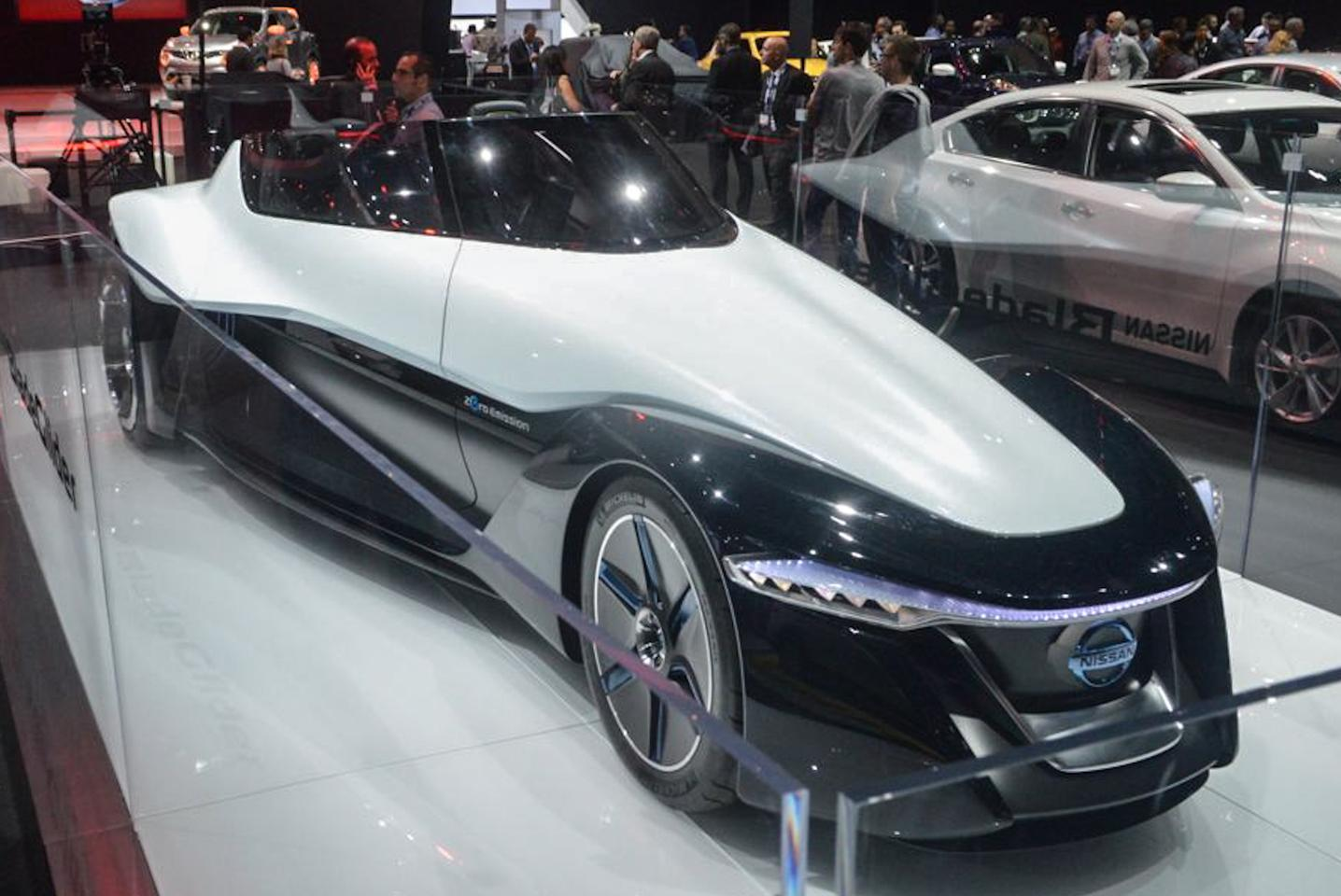 The Nissan BladeGlider shows up a year after its global debut (Photo: C.C. Weiss/Gizmag.com)