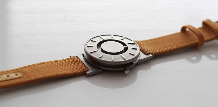 Each bearing is held in place with a magnet connected to a precise Swiss quartz watch movement inside the body