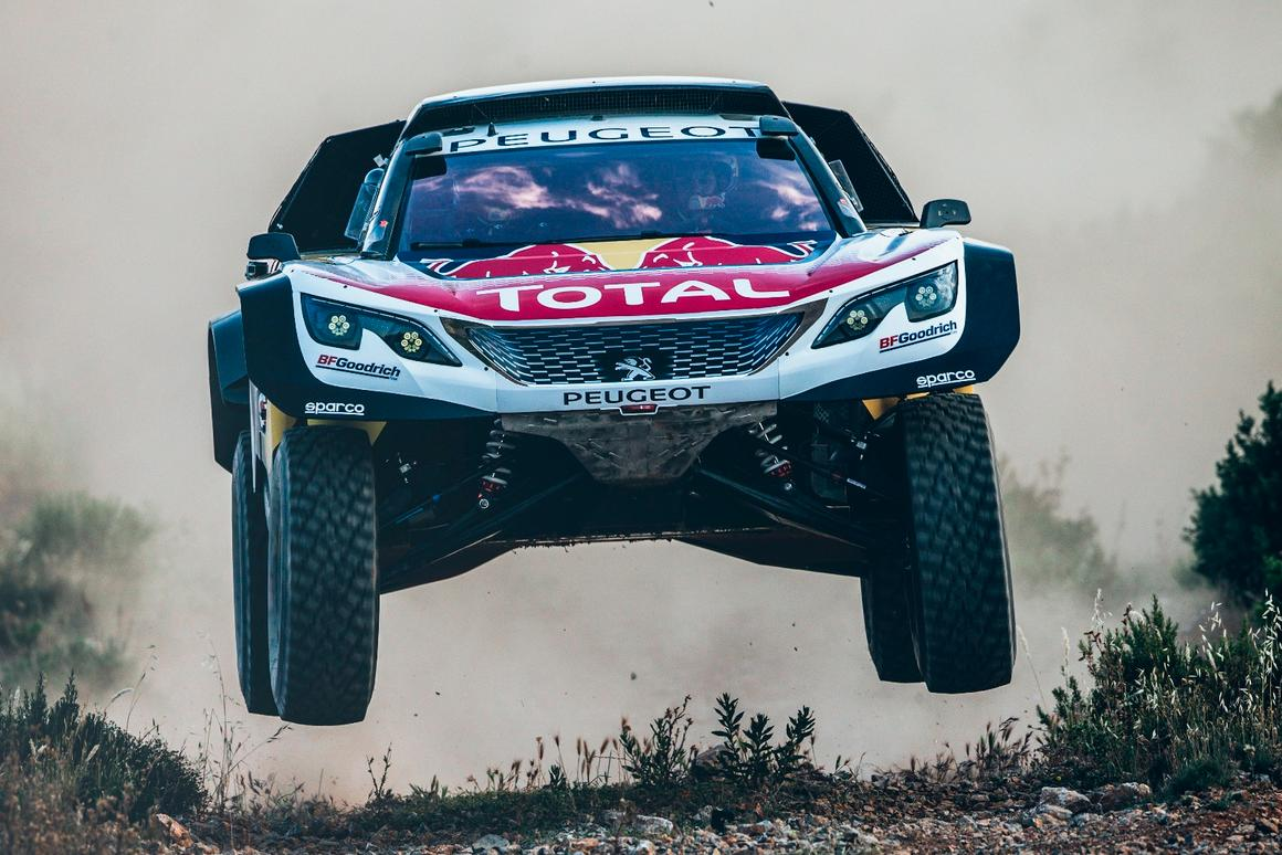 The new Peugeot 3008DKR Maxi is 20 cm wider than last year's car - a quantum leap in size and one which will be tested throughly in next week's Silk Way Rally.