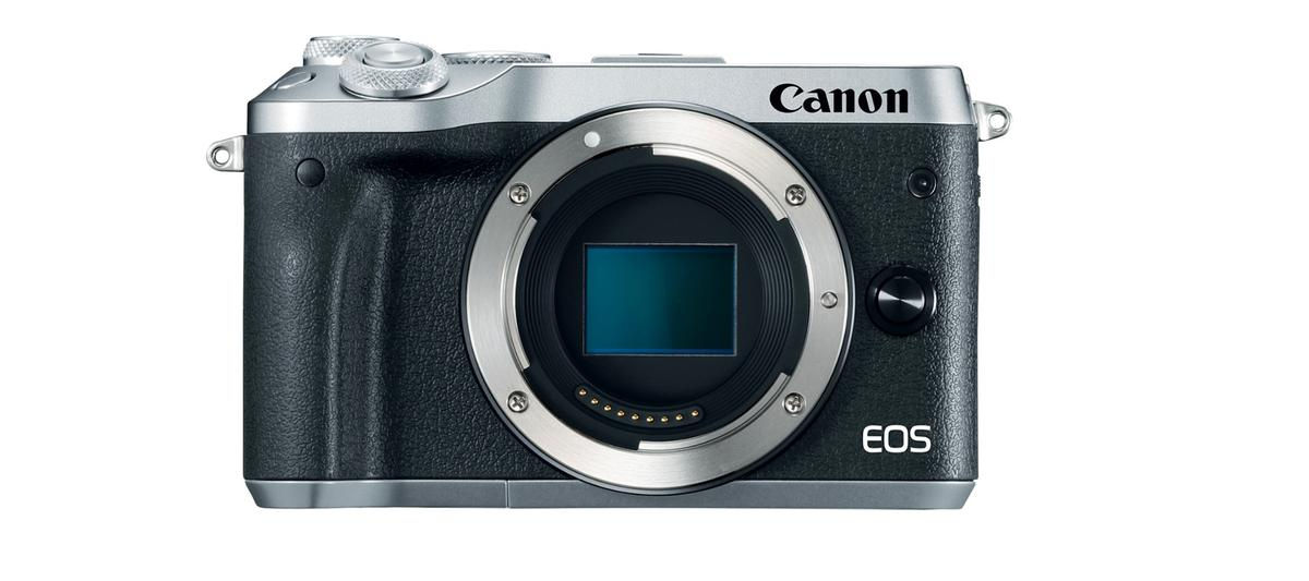 The Canon EOS M6 mirrorless cameralacks the built-in EVF of the M5