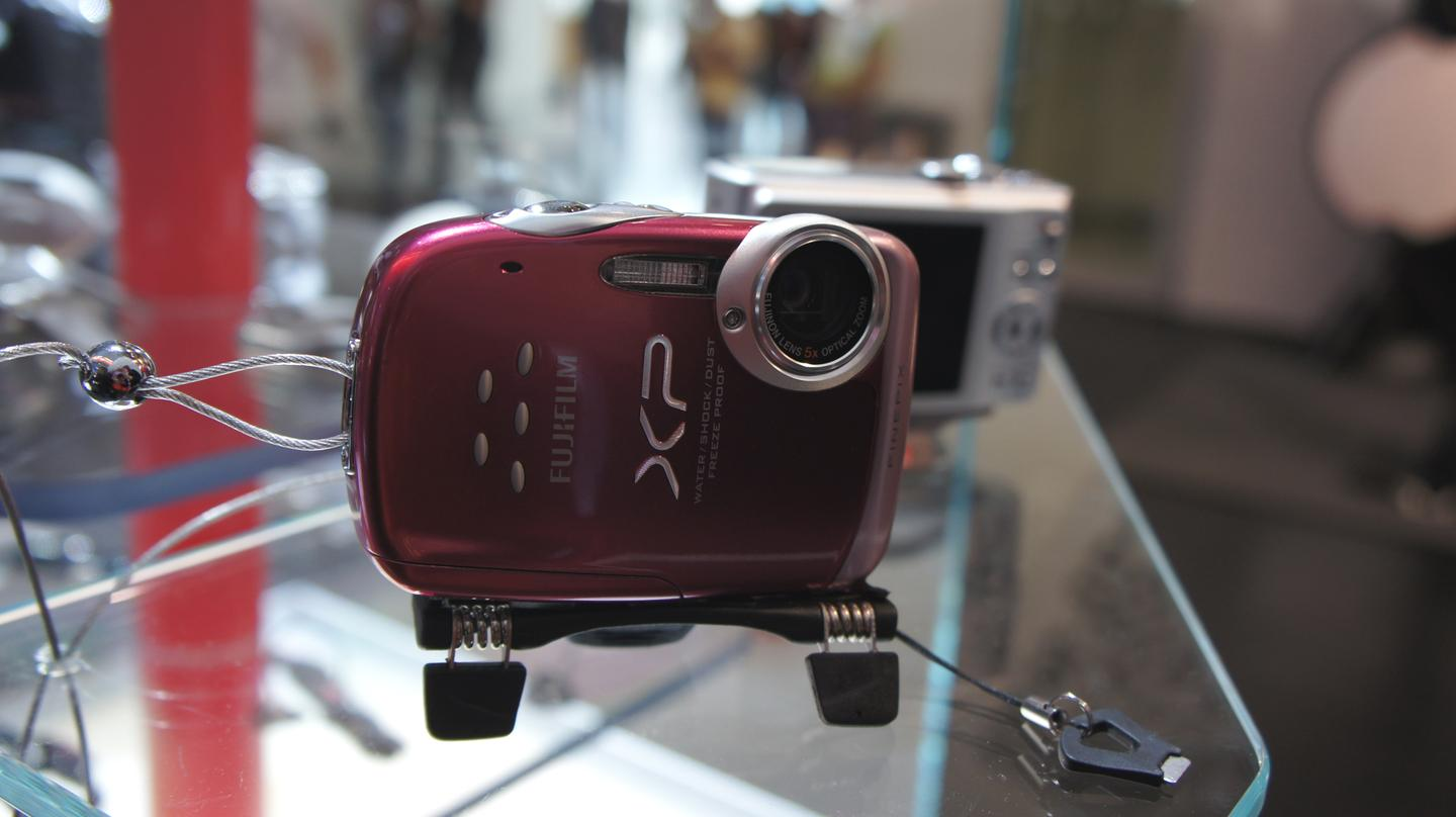 Manfrotto's MP1 compact pocket-sized tripod on display at Photokina 2010