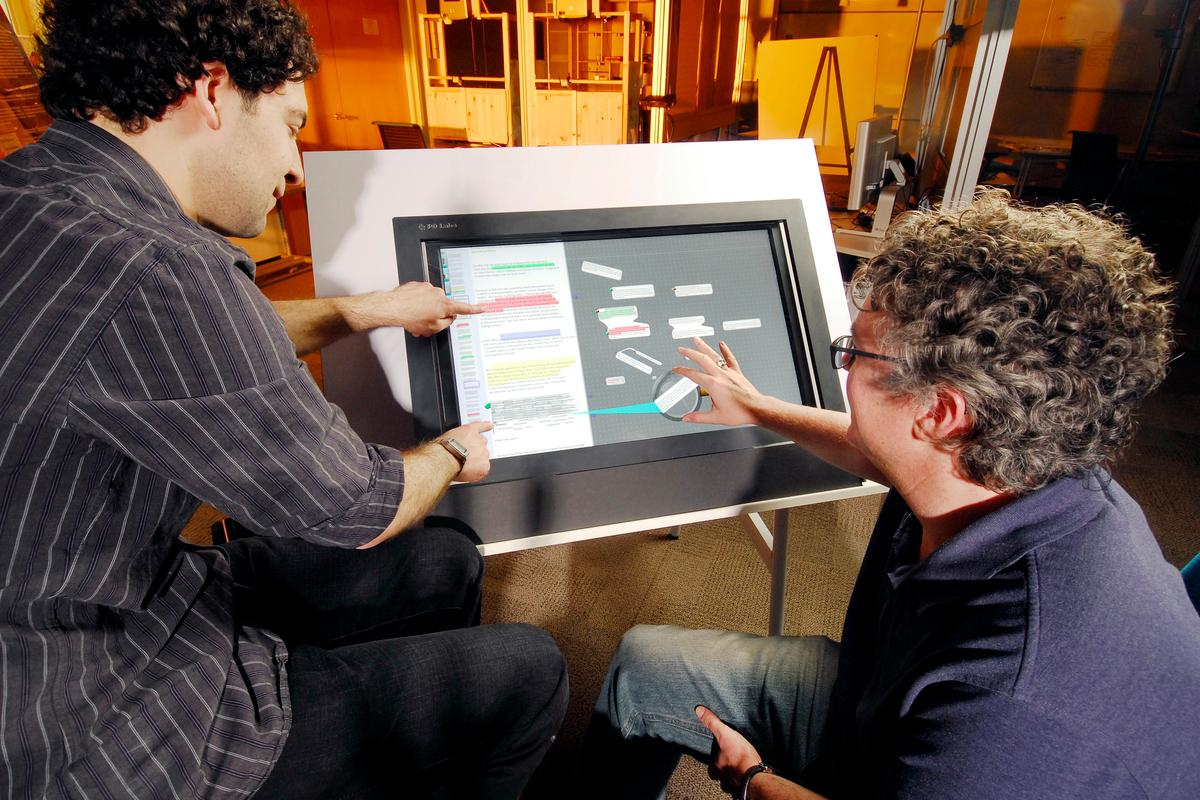 Craig Tashman (left) and Keith Edwards, creators of the LiquidText active reading software (Photo: Georgia Tech)