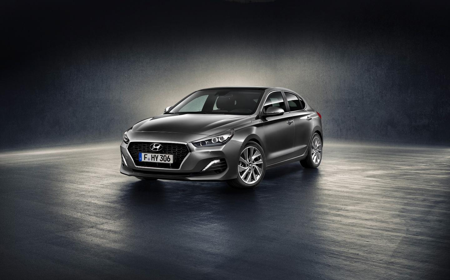 The nose of the Hyundai i30Fastback is slightly more aggressive than the hatchback