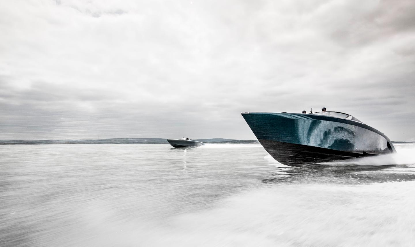 The new AM37 yacht has arrived in its first owner's hands