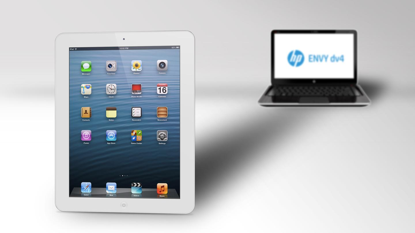 A prominent analyst sees shipments of tablets passing those of laptops today