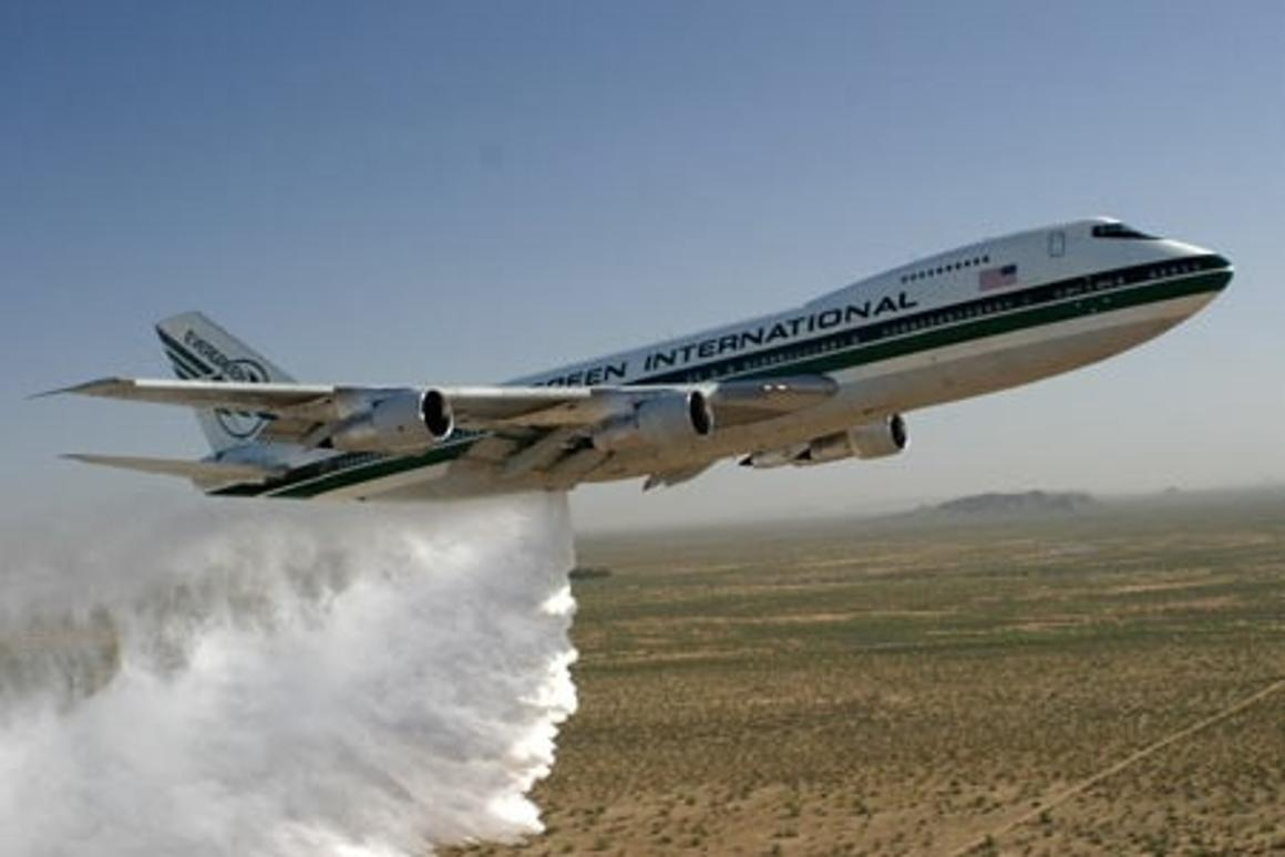 Evergreen's 747-based Supertanker: the largest firefighting aircraft in the world.