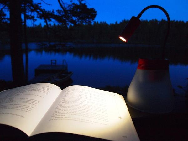BRIGHT can be used as a reading light