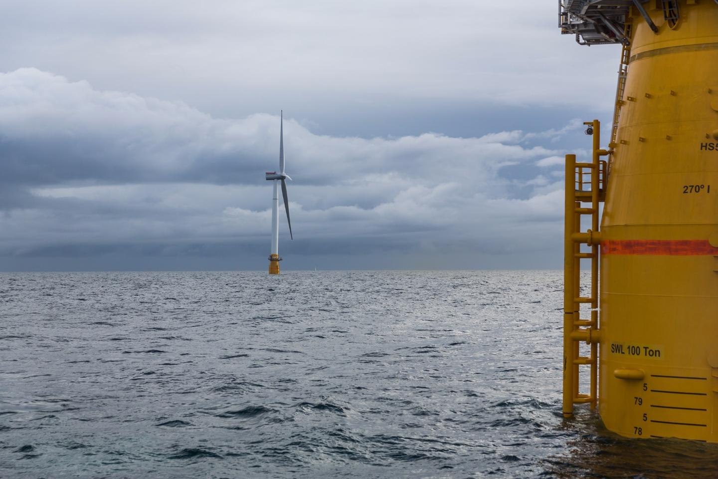 The floating turbines used in the Hywind farm can operate in water  up to 10 times deeper than turbines fixed to the seafloor, opening up far more opportunities for offshore wind farms