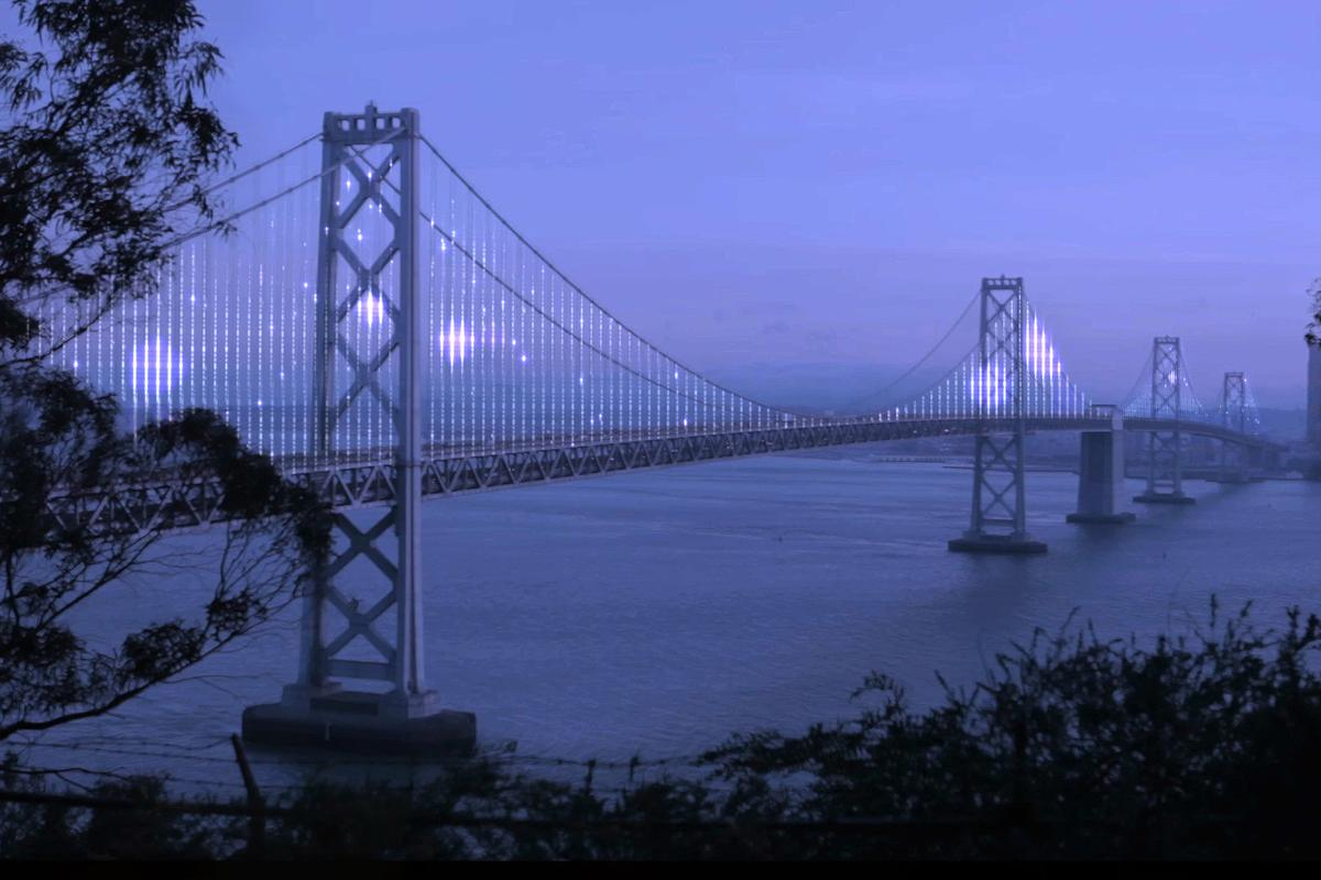 The Bay Lights installation will begin to shine from March 5