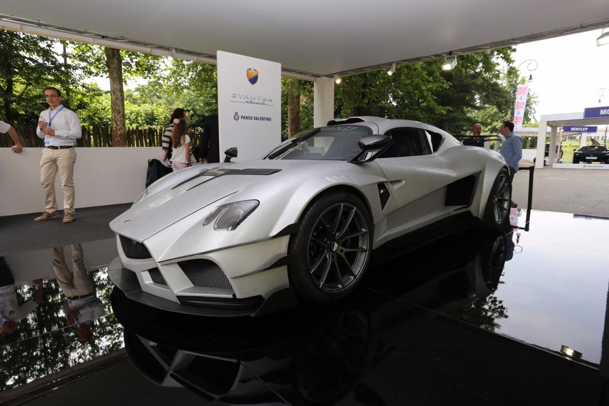 Mazzanti Evantra Millecavalli reveal at the Salone dell'Auto di Torino Parco Valentino 2016