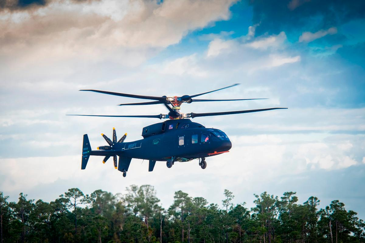 The Defiant made its first flight at Sikorsky's West Palm Beach facility on Thursday