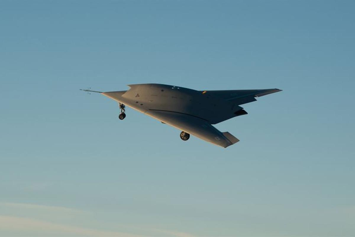 The nEUROn Unmanned Combat Aerial Vehicle (UCAV) demonstrator on its maiden flight