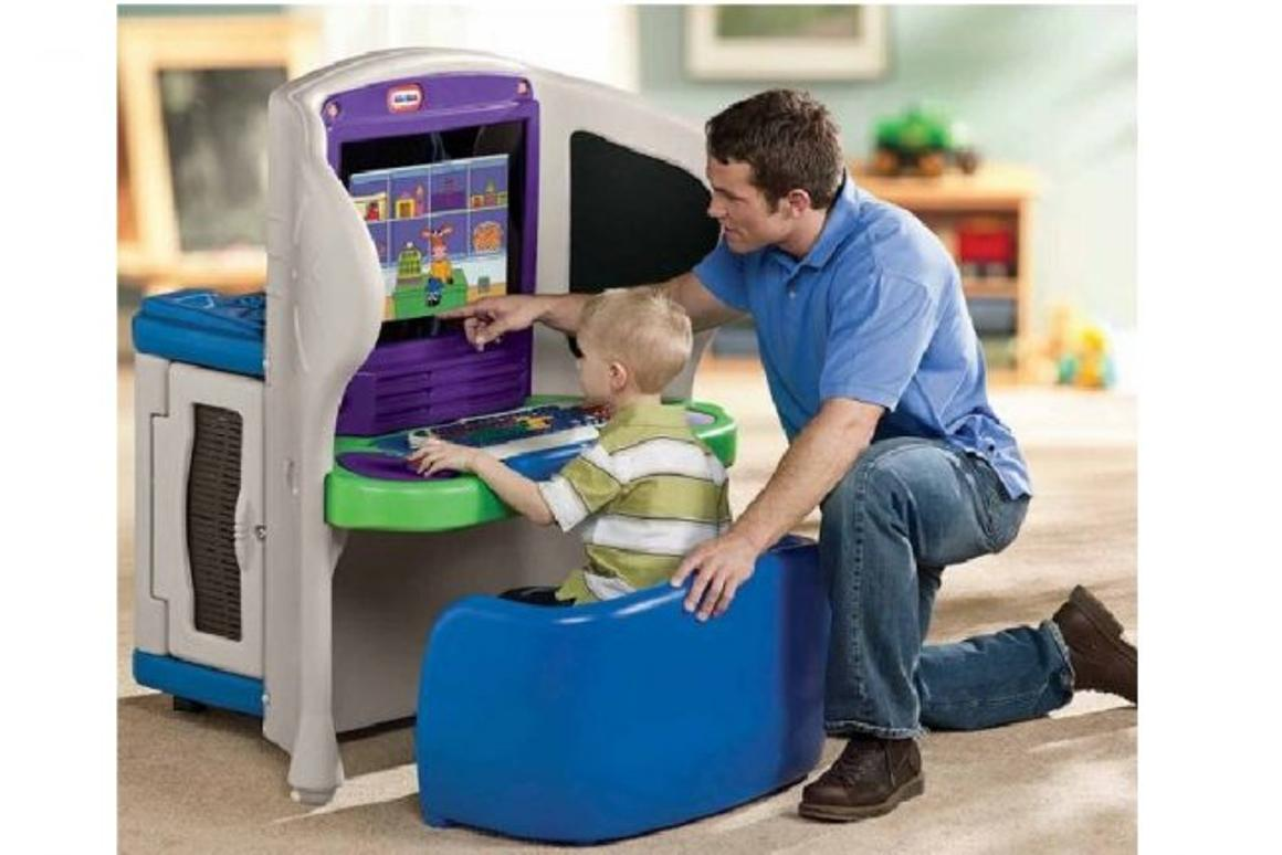 The Young Explorer workstation by Little Tikes is designed for inquiring minds and little fingers