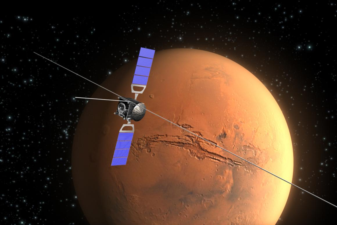 Mars Express has used its MARSIS radar to give strong evidence for a former ocean of Mars (Image: ESA, C. Carreau)