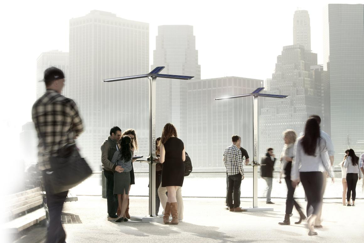 AT&T, Goal Zero and Pensa have started rolling out the Street Charge public solar charging stations in New York