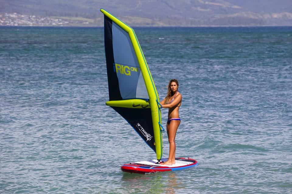The Arrows iRig One inflates on the beach and offers a lighter rig on the water