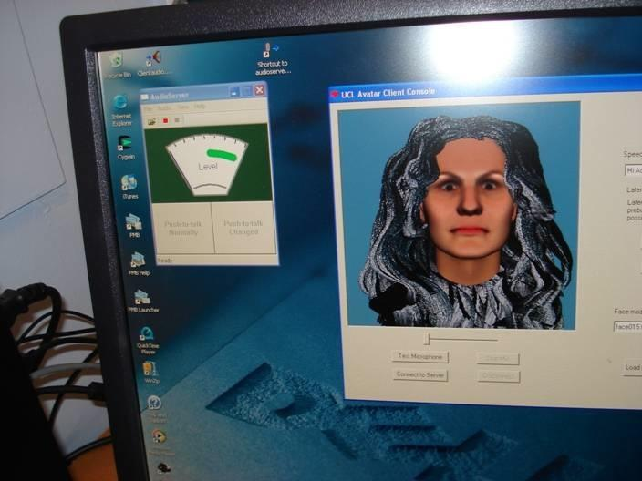 Using a computer interface, schizophrenics were able to interact with avatars of the entities that they believed were tormenting them (Photo: Professor Julian Leff, UCL)