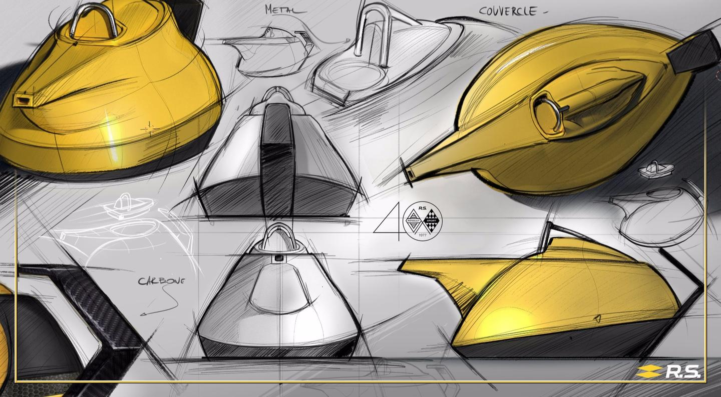 Design sketches of The Yellow Teapot
