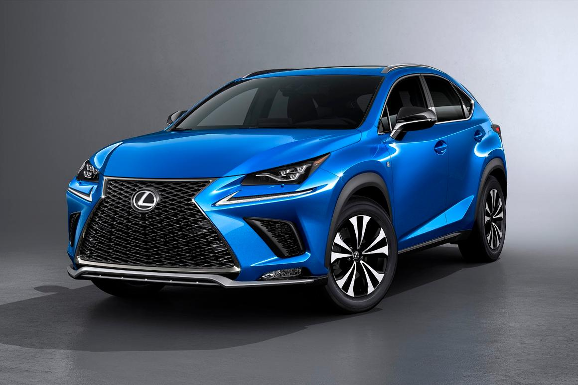 Lexus has smoothed out the headlamps on the NX