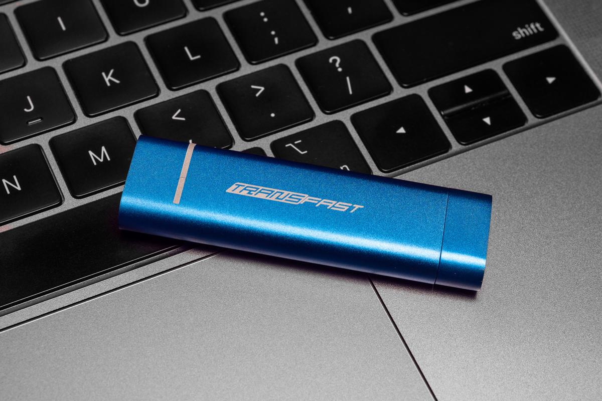 Transfast is a tiny, portable SSD with super fast read and write speeds