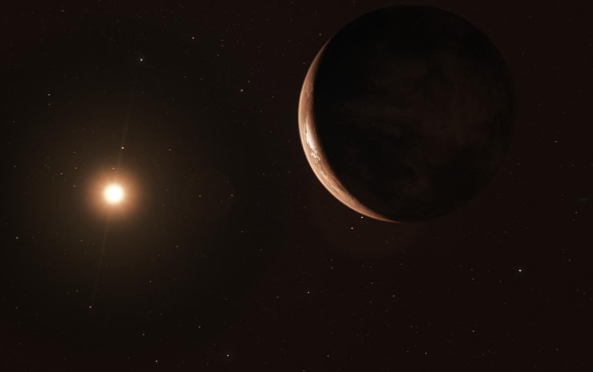 Artist's impression of the newly discovered exoplanet orbiting Barnard's Star