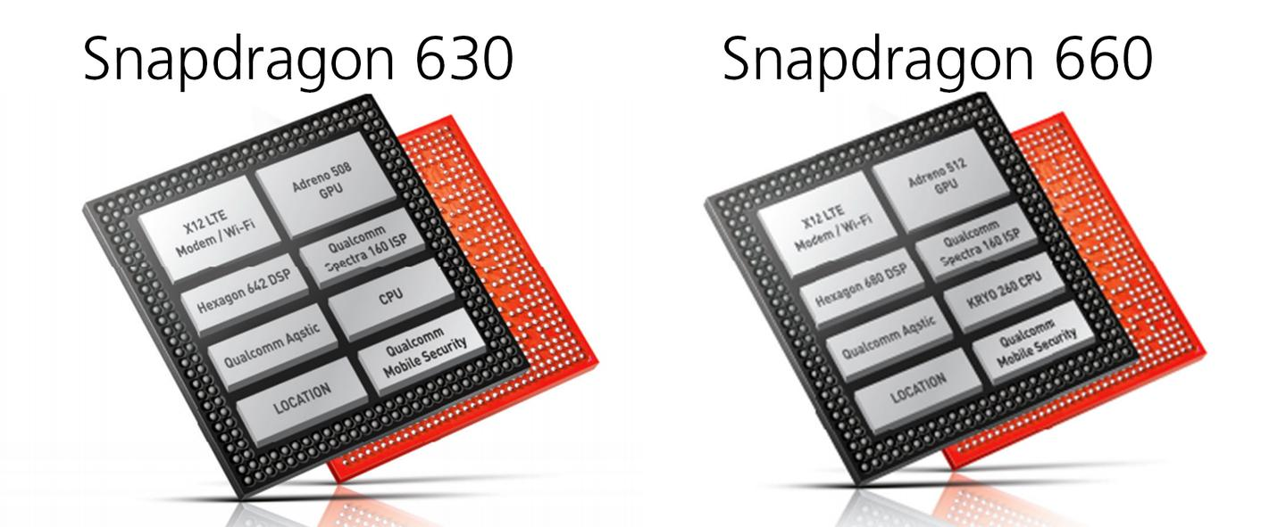 Specs for the Snapdragon 630 and 660