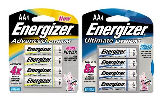 Energizer 4X and 8X Lithium batteries