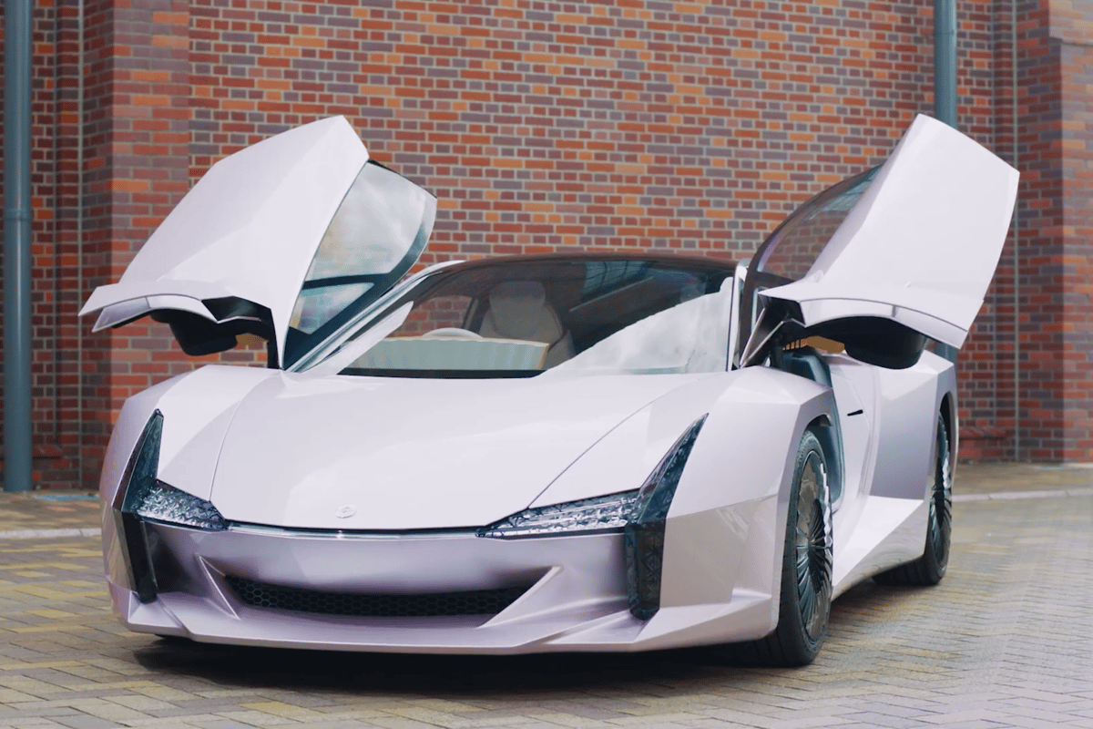This Japanese supercar design is made from incredibly strong wood-based cellulose nanofibers