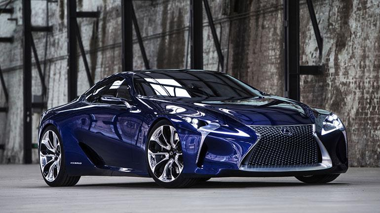 The Lexus LF-LC Blue concept vehicle