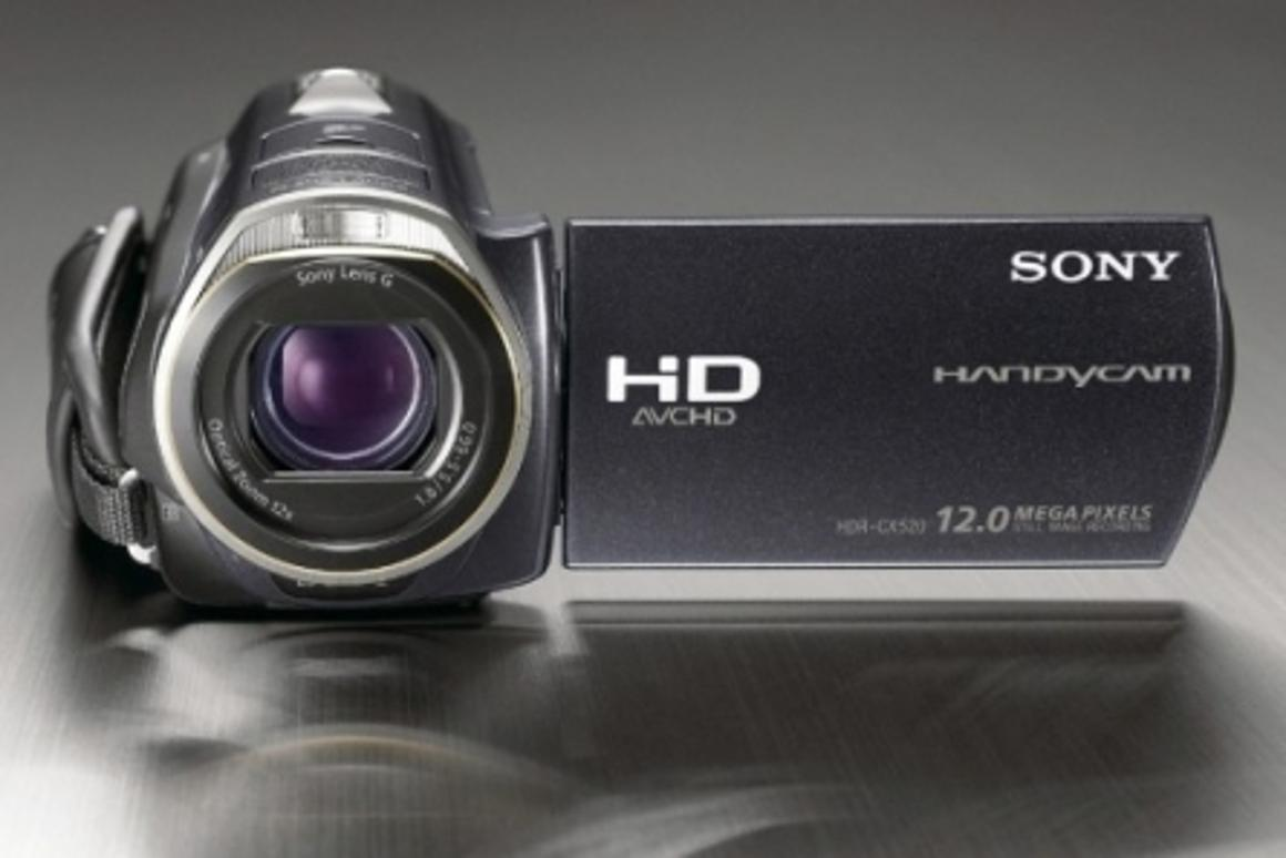 Sony's new HD Handycam CX520VE features three-way image stabilization and an enhanced image sensor
