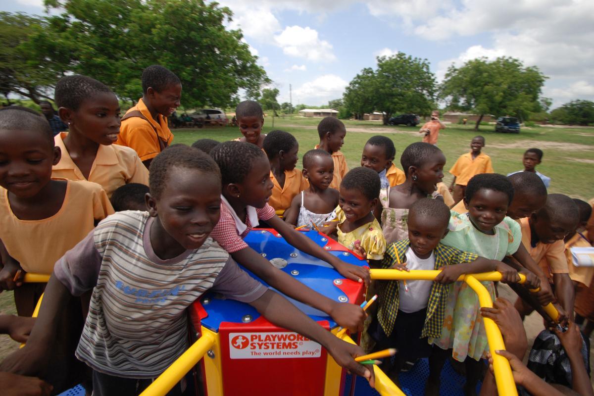 Empower Playgrounds' merry-go-round